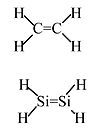 comparison of ethylene and silylene structures