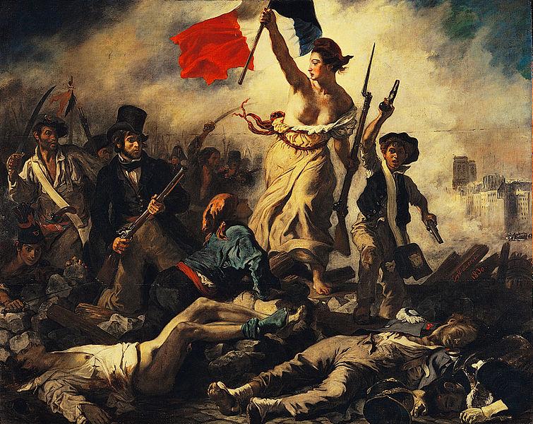 les pochettes de disques sur base d'un tableau d'Eugène Delacroix 755px-Eug%C3%A8ne_Delacroix_-_La_libert%C3%A9_guidant_le_peuple-2