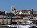 Európa (ship, 1959) , Bem rakpart houses and a part of Buda Castle Hill, 2013 Budapest (376) (13227525705).jpg