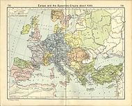 Map of Europe around 1000