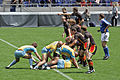 European Sevens 2008, Ukraine vs Belgium, scrum.jpg