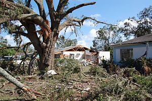 Tropical Depression Ten (2007) - Tornado damage in Eustis, Florida