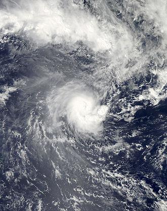 Cyclone Evan - Cyclone Evan nearing the coast of Upolu, Samoa on December 13