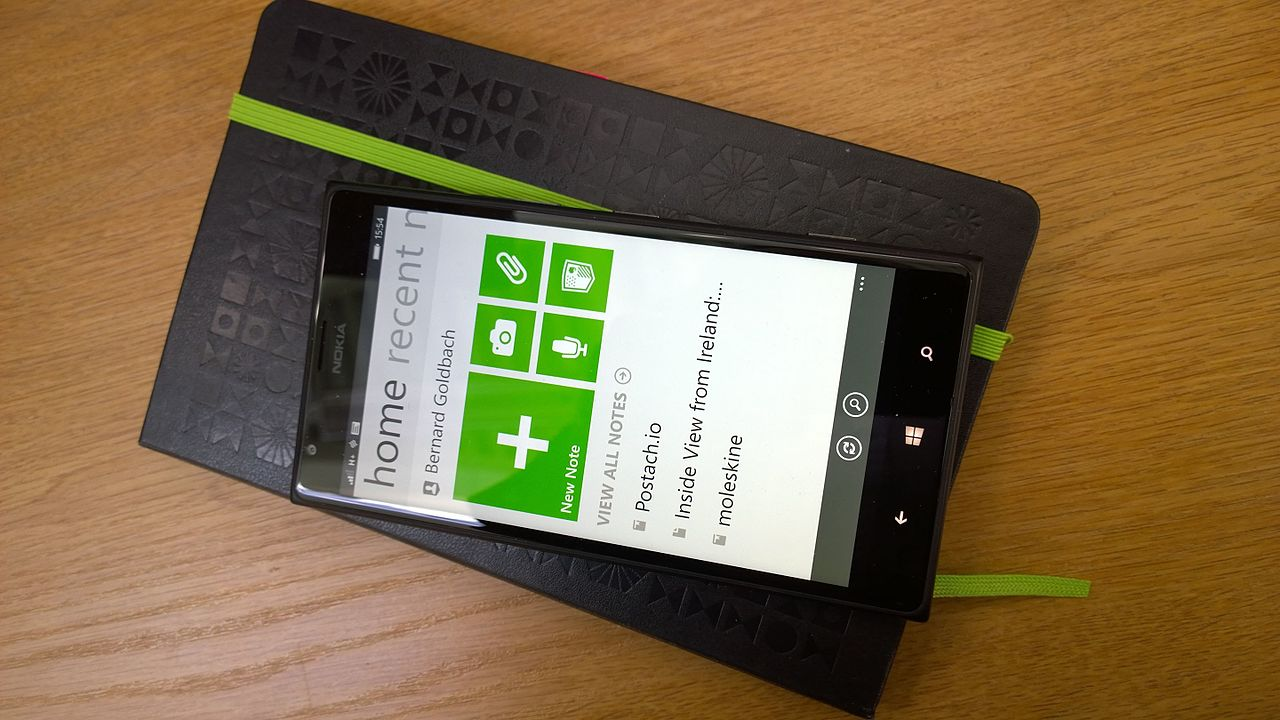 Evernote on Lumia on Evernote (14197872383).jpg