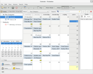 Evolution (software) - Evolution's calendar software