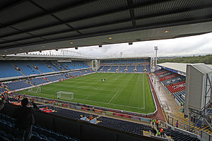 East Lancashire derby - Ewood Park – home of Blackburn Rovers since 1890.