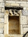 Excideuil église portail ouest niche.JPG