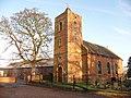 Eyton upon the Weald Moors, parish church and neighbouring barn - geograph.org.uk - 1627628.jpg
