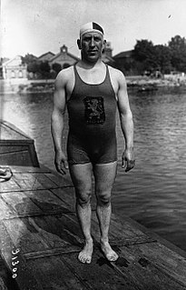 Félicien Courbet swimmer, water polo player