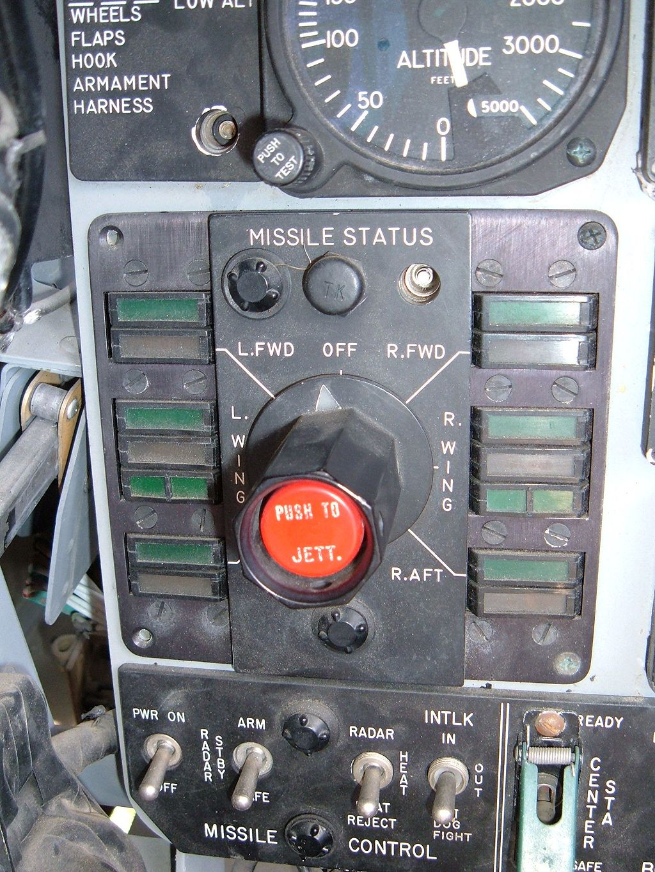 F-4N cockpit simulator pilot's missile controls.JPG