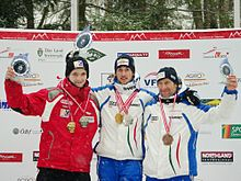 FIL European Luge Natural Track Championships 2010 - Men's Singles Prize Giving Ceremony.jpg