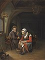 FM-100-Frans van Mieris-An Elderly Couple in an Interior.jpg