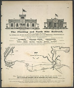 Flushing and North Side Railroad - 1873 Map of the Flushing and North Side Railroad.