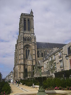 cathedral located in Aisne, in France