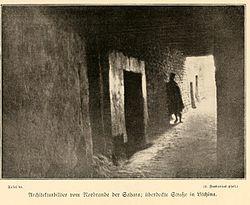 FROBENIUS(1911) Tafel46 Straßenzug in Litchina am Rande der Sahara.jpg