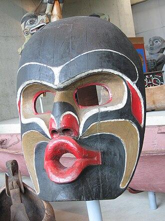 Dzunukwa - Mask of Dzunukwa face (Museum of Anthropology at UBC)