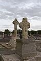 Faces ouest des croix de cimetière en chasuble et en batière (Pacé, Ille-et-Vilaine, France).jpg