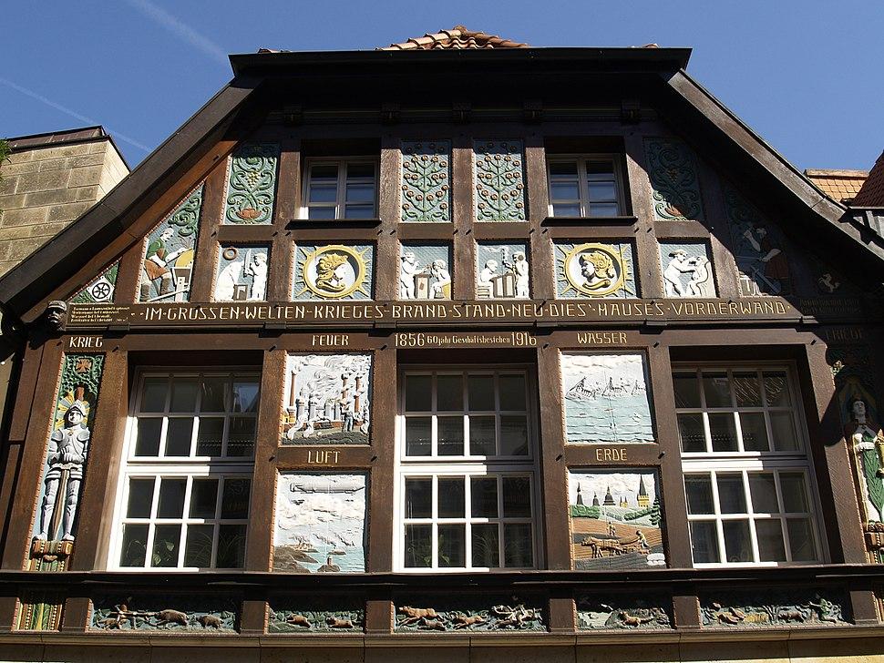 Fachwerkgiebel aus dem Jahre 1856 in Osnabrück