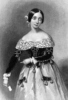 La soprano italiana fanny persiani com a rosina el 1840