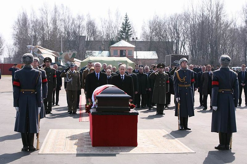 Farewell of Lech Kaczyński in Russia