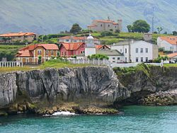 The Llanes Port's lighthouse in Asturias.