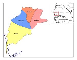 Diakhao Arrondissement - Image: Fatick arrondissements