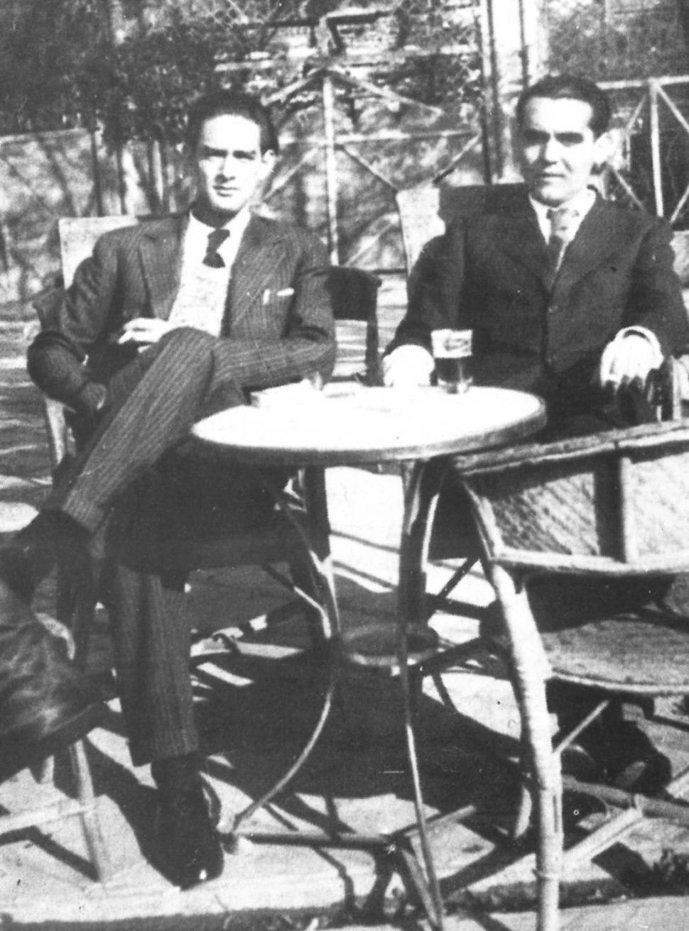 Federico García Lorca y Ernesto Pérez Güerra, Madrid, 1934