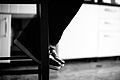 Feet on a stool in B&W.jpg