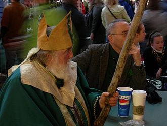Festál - Man dressed as Saint Patrick, Irish Week Festival.