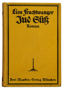 cover of Lion Feuchtwanger's 1925 novel,Jud Süß