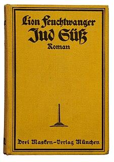 <i>Jud Süß</i> (Feuchtwanger novel) novel by Lion Feuchtwanger