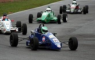 New Zealand Formula Ford Championship - Mygale SJ06 followed by a Van Diemen RF03