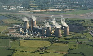 Cuerdley - Image: Fiddlers Ferry Power Station geograph.org.uk 1696162