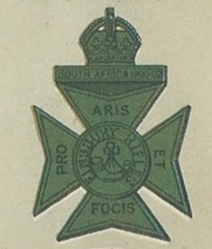 Finsbury Rifles - Cap badge of the Finsbury Rifles