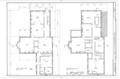 First Floor and Second Floor Plan - Senator Elihu B. Washburne House, 908 Third Street, Galena, Jo Daviess County, IL HABS ILL,43-GALA,8- (sheet 2 of 8).png