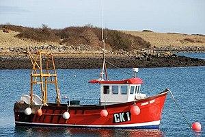 """English: Fishing boat, Ballydorn The """"John Boy..."""