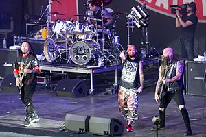 Left to right: Bathory, Spencer, Moody, and Kael performing at 2017's Rock am Ring