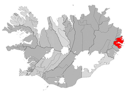 Location of the Municipality of Fjarðabyggð