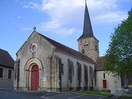 The church in Fleury-sur-Loire