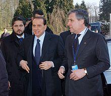 Antonio Tajani con Silvio Berlusconi