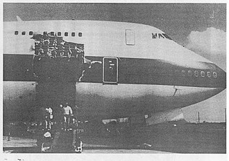 United Airlines Flight 811 - N4713U after the cargo door tore off in flight, causing an explosive decompression and ejecting nine people from the plane