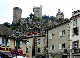 Vista do castelo de Foix