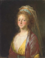 Follower of Alexander Roslin - Portrait of a lady, traditionally identified as Sophia Magdalena of Denmark.png