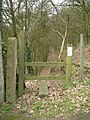 Footpath beside disused Railway - geograph.org.uk - 1761661.jpg