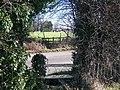 Footpath crosses Teston Road - geograph.org.uk - 1196219.jpg