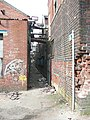 Footpath through the derelict factory, Miry Lane, Hightown, Liversedge - geograph.org.uk - 1215656.jpg