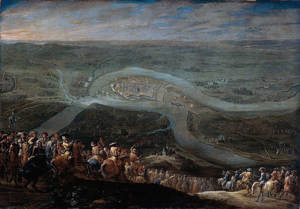 Forces of Louis XIV before Schenkenschans - De troepen van Lodewijk XIV voor Schenkenschans, 18 juni 1672 (Lambert de Hondt II)