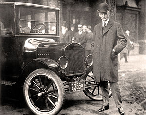 Economy car - Henry Ford with Model T, 1921