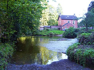 River Dove, North Yorkshire - Image: Ford through the River Dove geograph.org.uk 1523167
