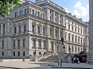 Foreign and Commonwealth Office - The Foreign Office building by Sir George Gilbert Scott, viewed from Horse Guards Road